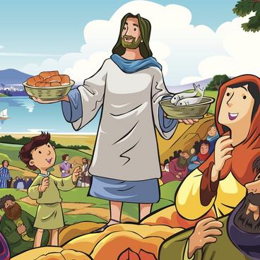 Jesus utför mirakel